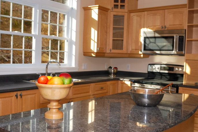 Granite-Kitchen-Countertop-black-maple-cabinets.jpg Superb Stone